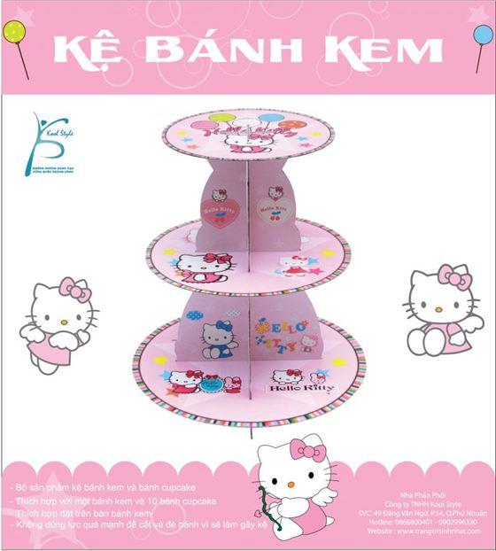 Kệ Bánh Kem Sinh Nhật Chủ Đề Kitty