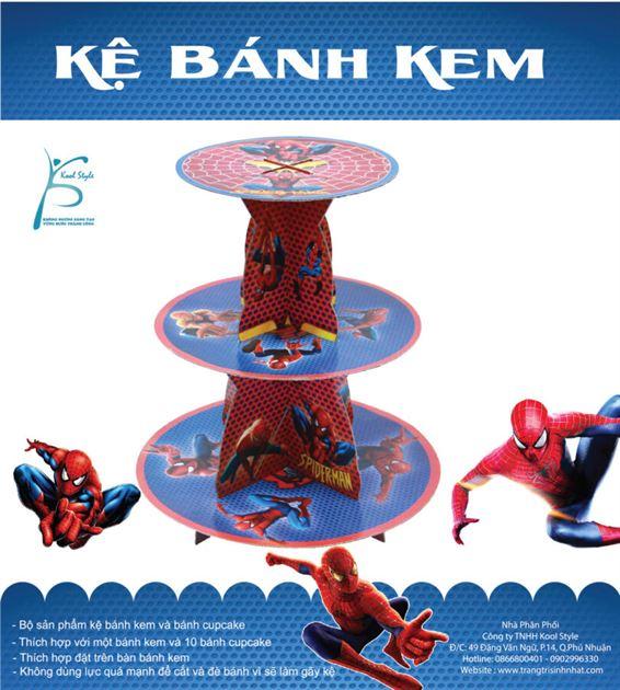 Kệ Bánh Kem Sinh Nhật người nhện