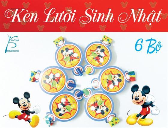 Kèn Lưỡi Sinh Nhật Chủ Đề Mickey