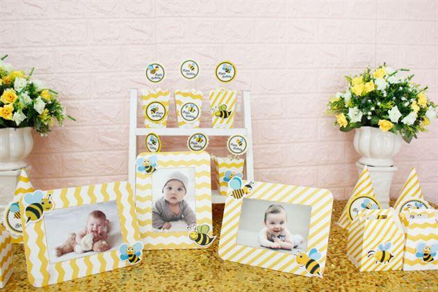 Tông màu vàng zigzag đáng yêu cho bé