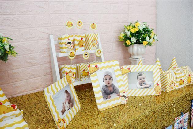 Khung hình trong set mini phụ kiện sinh nhật bé trai