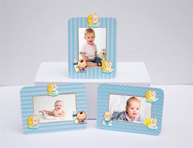 Khung hình sinh nhật baby boy màu xanh da trời