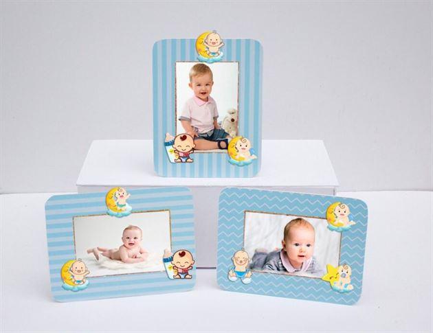 Khung hình sinh nhật baby boy màu xanh dương