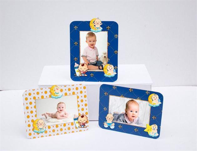Khung hình sinh nhật baby boy màu xanh hoàng gia