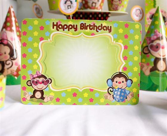 Khung hình sinh nhật bé gái Tuổi Khỉ