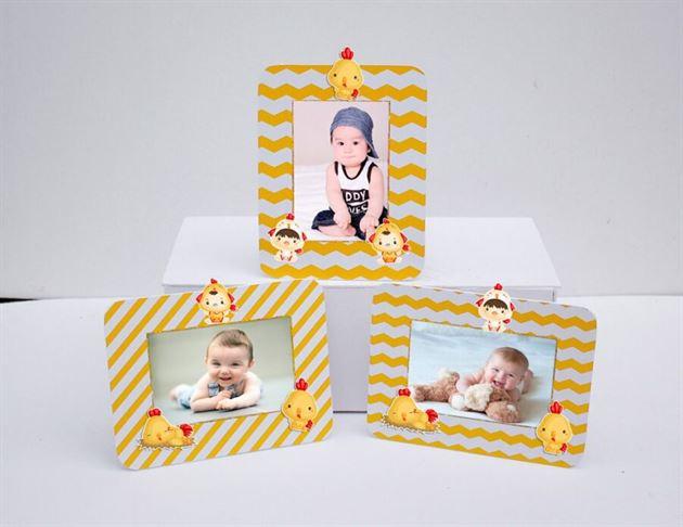 Tem khung hình sinh nhật bé trai tuổi gà