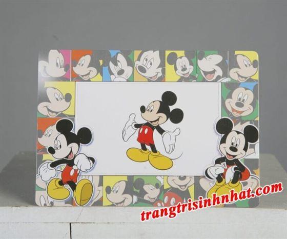 Khung Hình Sinh Nhật đặt bàn Chủ Đề Mickey
