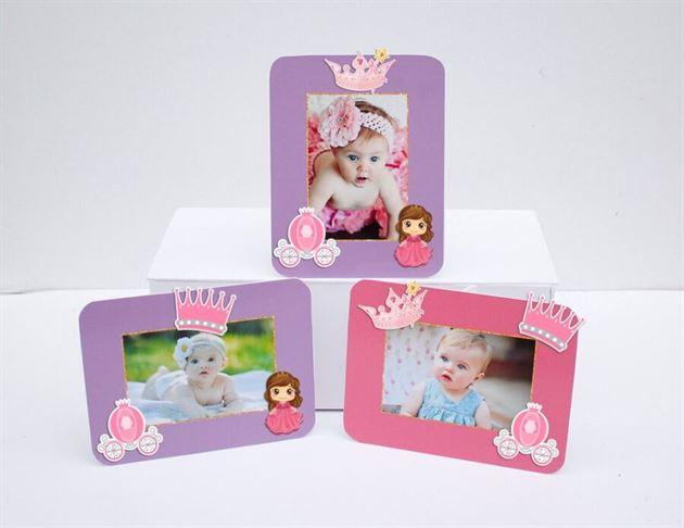 Tem khung hình sinh nhật công chúa màu hồng tím
