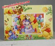 Khung Hình Sinh Nhật đặt bàn Gấu Pooh