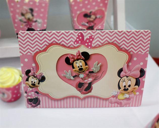 Khung Hình Sinh Nhật đặt bàn Minnie
