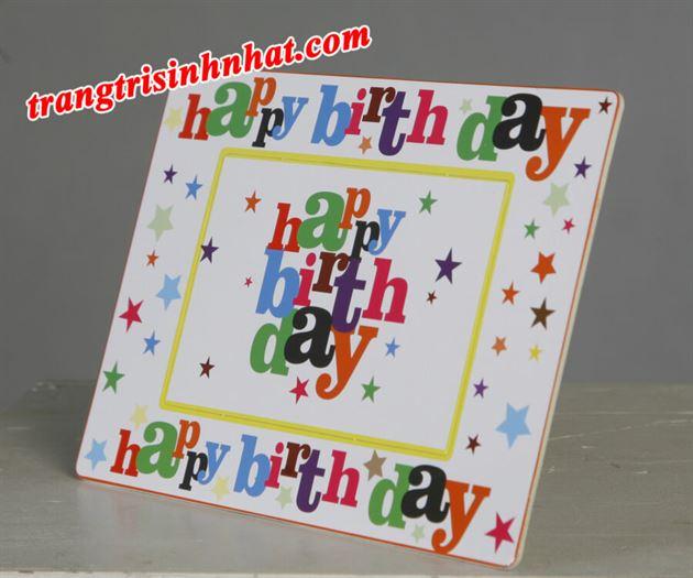 Khung hình trang trí đặt bàn chủ đề Happy Birthday