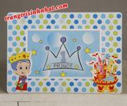 Khung hình sinh nhật đặt bàn chủ đề hoàng tử