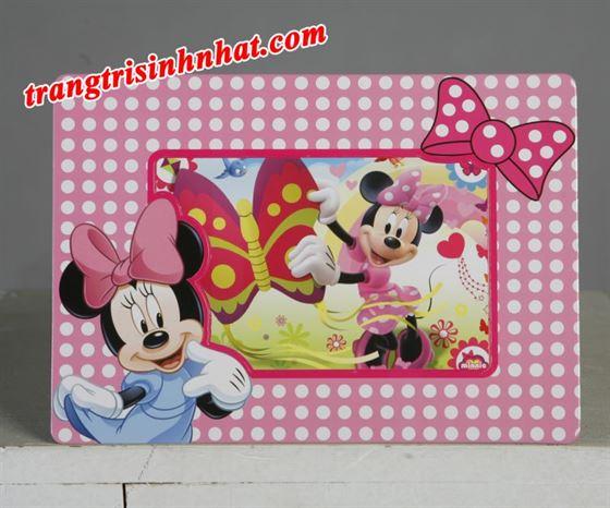 Khung hình sinh nhật đặt bàn chủ đề Minnie