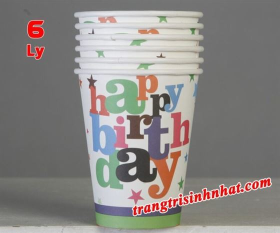 Ly Giấy Sinh Nhật Happy Birthday