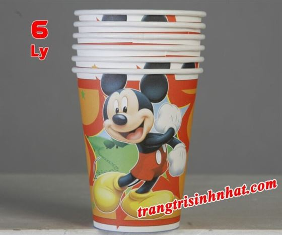 Ly Giấy Sinh Nhật Mickey
