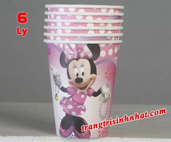 Ly Giấy Sinh Nhật Minnie