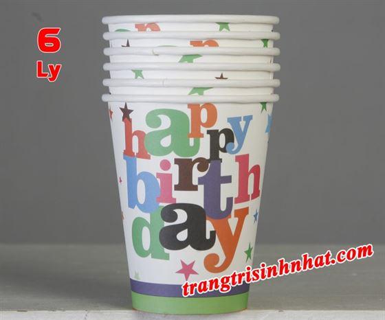 Ly giấy sinh nhật chủ đề Happy Birthday