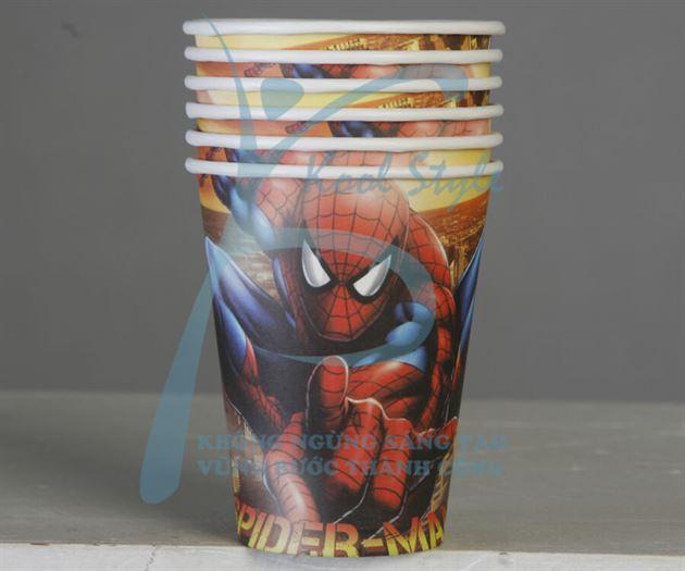 Ly giấy sinh nhật Spiderman ( Người Nhện )