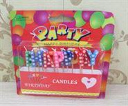 Nến trang trí sinh nhật happy birthday chấm bi