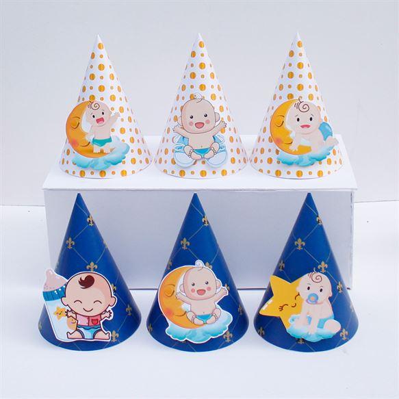 Nón sinh nhật baby boy màu xanh hoàng gia