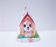 Nón sinh nhật bé gái tuổi chó màu trắng