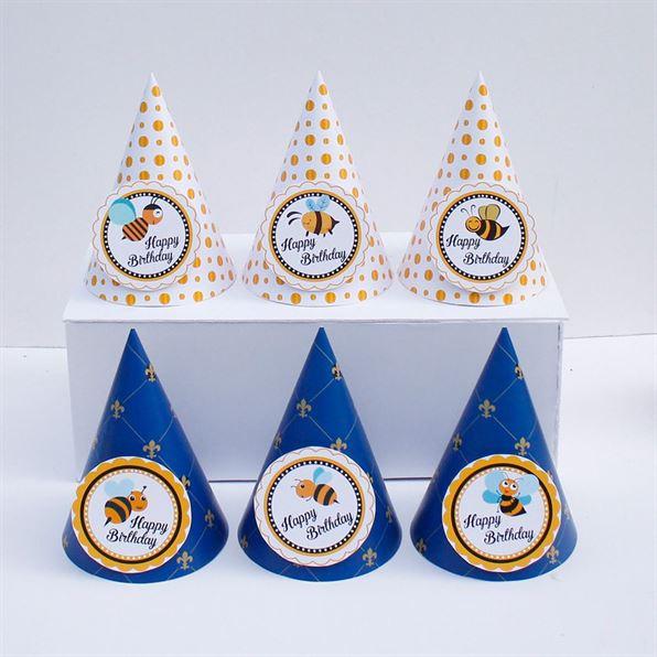 Nón sinh nhật Bé Ong màu xanh hoàng gia