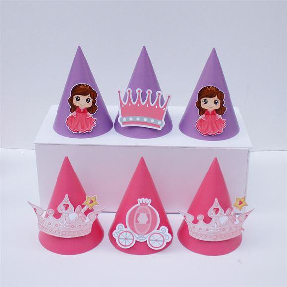 Nón sinh nhật Công Chúa màu hồng tím