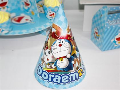 nón sinh nhật Doraemon