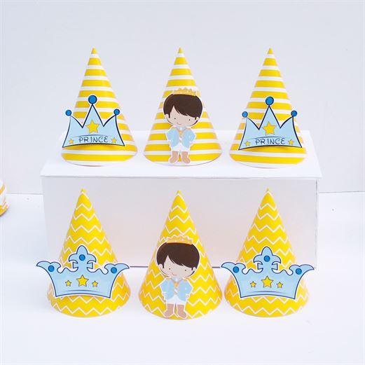 Nón sinh nhật Hoàng Tử màu vàng hoàng gia