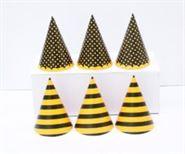 Nón sinh nhật màu vàng đen