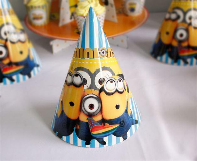 nón sinh nhật cho bé chủ đề Minion