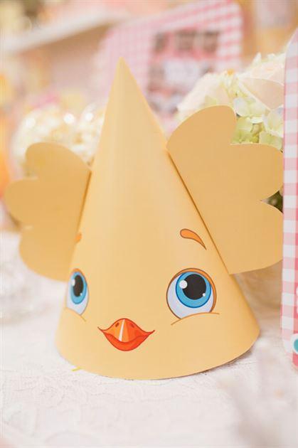 Nón sinh nhật chú gà con