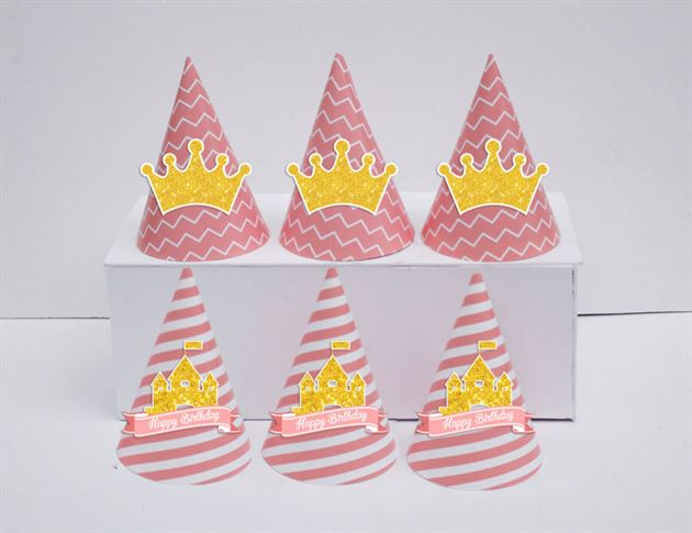 Tem nón sinh nhật Vương Miện Bé Gái