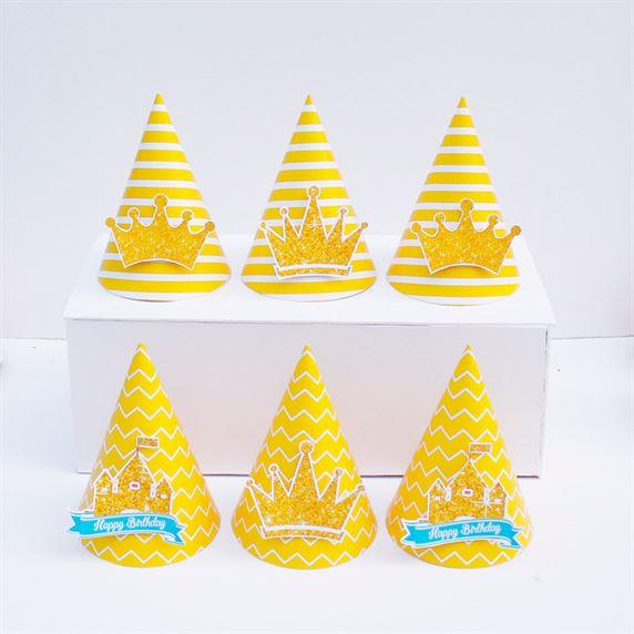 Nón sinh nhật Vương Miện Bé Trai màu vàng hoàng gia