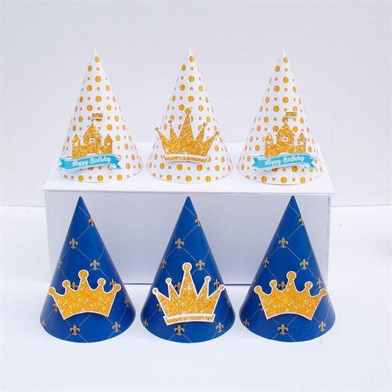 Nón sinh nhật Vương Miện Bé Trai màu xanh hoàng gia