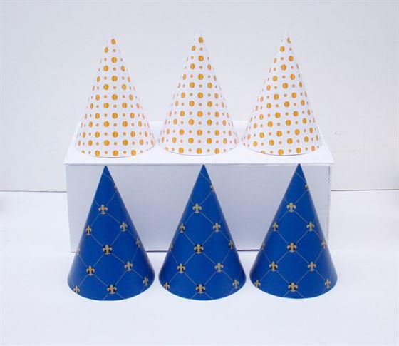 Nón sinh nhật màu xanh hoàng gia