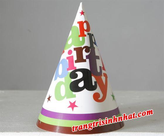 Nón sinh nhật chủ đề Happy Birthday