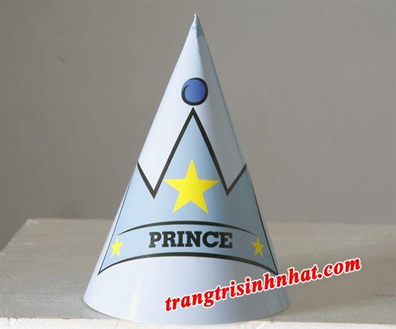 Nón sinh nhật chủ đề hoàng tử