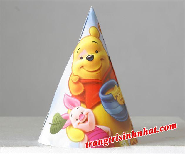 Nón sinh nhật chủ đề Gấu Pooh