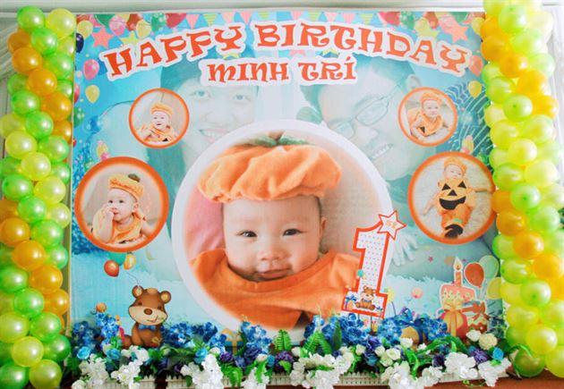Phông trang trí sinh nhật cho bé