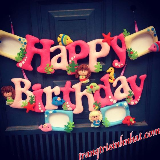 Dây Chữ Happy Birthday Nhồi Bông