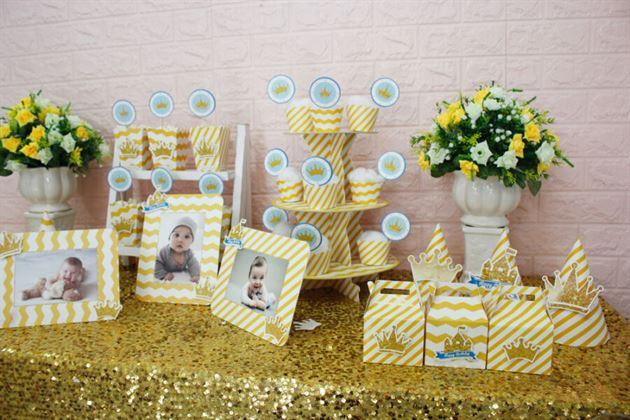 Phụ kiện sinh nhật full set trang trí bàn cho bé