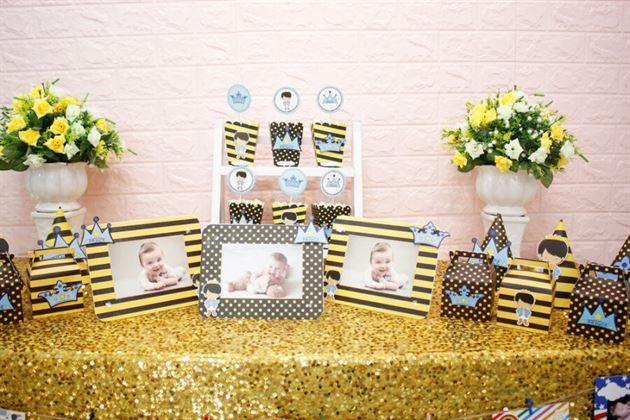 Set mini phụ kiện sinh nhật vàng đen