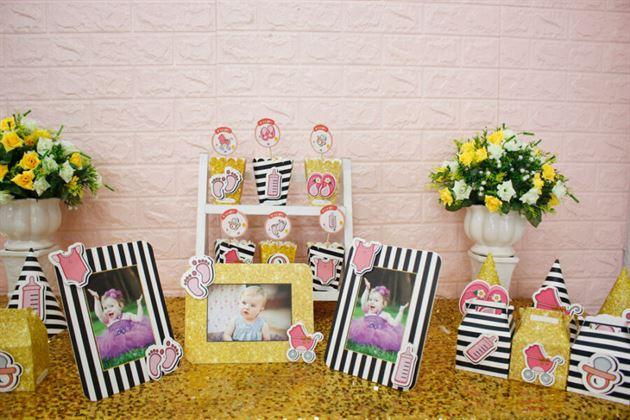 Set mini trang trí sinh nhật bé gái
