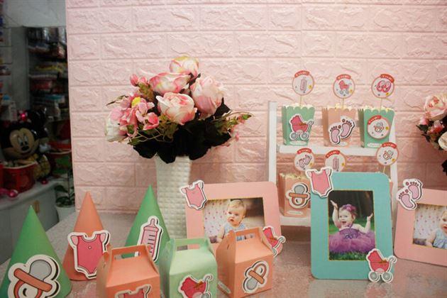 Phụ kiện mini set trang trí sinh nhật cho bé gái