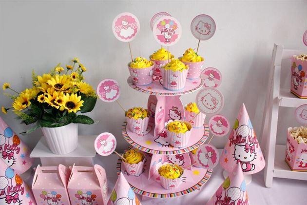 phụ kiện trang trí sinh nhật kitty