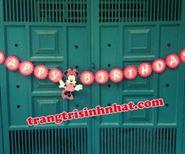 Dây Chữ Happy Birthday vải nỉ Minnie