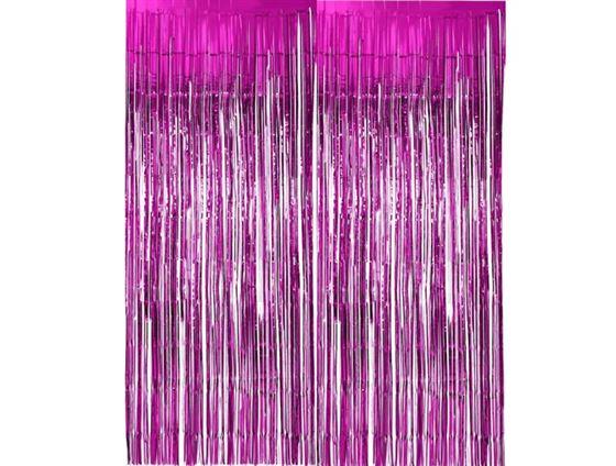 Rèm kim tuyến màu hồng