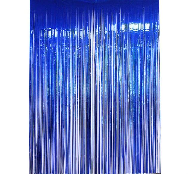 Rèm kim tuyến màu xanh dương