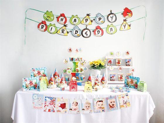 Bộ phụ kiện sinh nhật Angry Birds